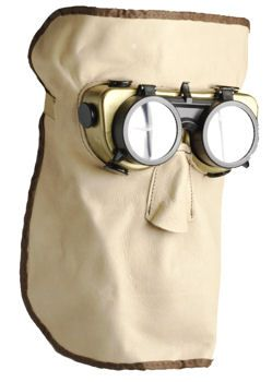 Leather Welding Mask, with Flip Up Welding Goggles