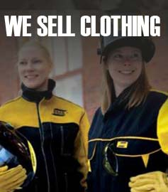 We sell welding clothing